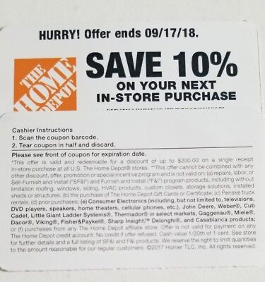Home Depot 1 10 Off Up To 200 In