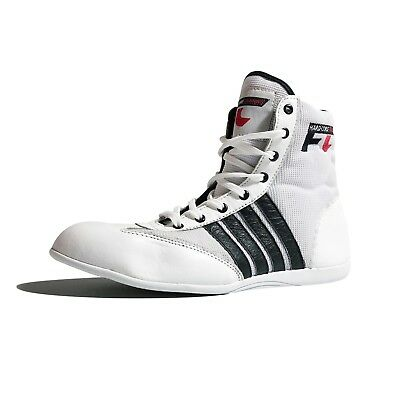 White Low-cut Adult Mens/Womens Gym Training Boxing Wrestling Boots Sizes 2-13