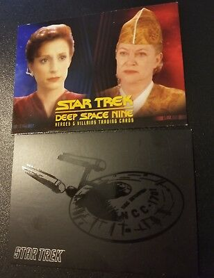Star Trek Deep Space Nine Heroes And Villains Promo Card plus bonus promo card