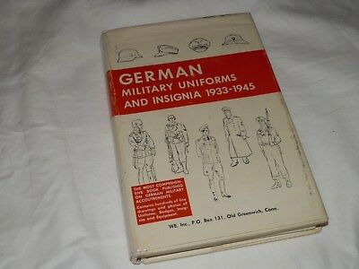 German Military Uniforms and Insignia 1933-1945 Hard Cover Book 1967