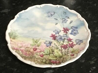 Royal Albert 'Harebell & Heather''  Plate Flowers Of The Hedgerow Collection