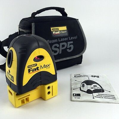 Stanley FatMax SP5 Self leveling 5 Beam Laser Level 77-154 w Soft Case