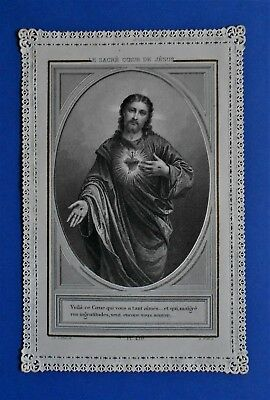 Santino Holy card Canivet Letaille Sacro Cuore Gesù