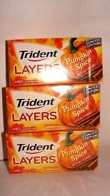 3 PACKS Trident Layers Gum, Limited edition PUMPKIN SPICE (Collection)