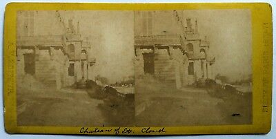 Photo Stereo Stereoview Ruines Chateau St Cloud Napoleon Iii Paris France 1871