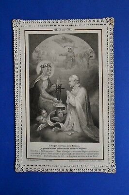 Santino Holy card Canivet Letaille Boumard Pio IX in Paradiso