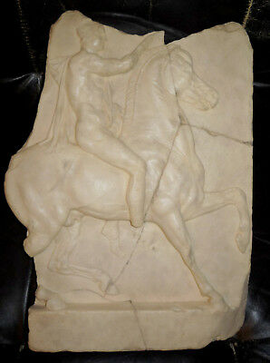 Vtg Museum Replica Relief of a Horseman Late Hellenistic,1st century B.C - Greek