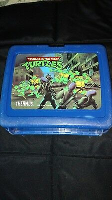 Teenage Mutant Ninja Turtle Blue Plastic Lunch Box with Thermos