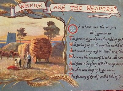 Tucks Oilette Iilustrated Hymns -Where are the Reapers