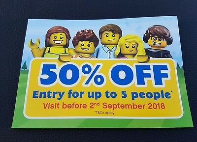 Legoland Windsor 50% off Voucher Ticket Entry Valid until 02-09-18
