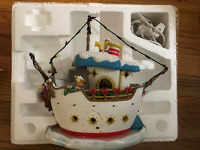 Disney Donalds Toon town Holiday Boat Part of the holiday house collection.