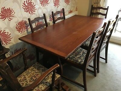 Oak Table & Chairs. Solid Oak. I bought this set nearly 50 Years ago......