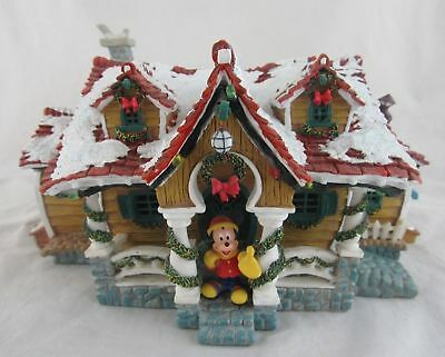Disney Mickey Toon town Holiday Christmas house IN ORIGINAL BOX