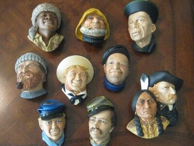Lot of 10 Character Heads Bossons England Chalkware Wall Figures, Lot 5