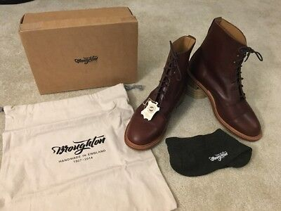 Broughton Boots Made By Sanders England Goodyear Welted Hand Stitched Brown