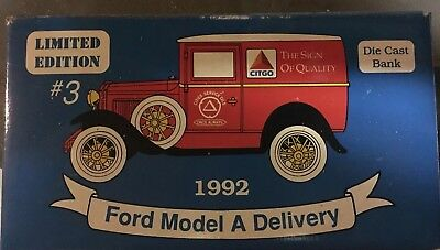 New Never Used Limited Ed Citgo 1992 Ford Model A Delivery Truck Diecast 1:25