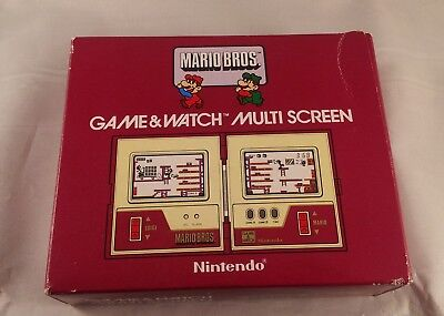 Vintage Nintendo Mario Bros Game and Watch Boxed from 1983