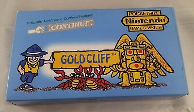 Vintage Nintendo Gold Cliff Game and Watch Boxed from 1988