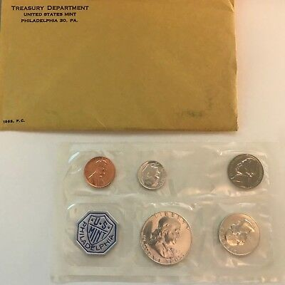 1963 PROOF Mint Set with Envelope and Original Documents