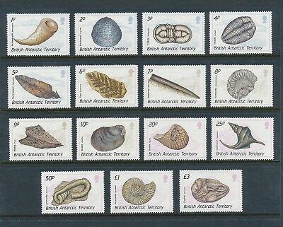 British Antarctic Territory 153-67 1990 Fossils definitive set VF NH