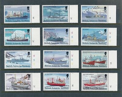 British Antarctic Territory 202-13 1993 Research Ships definitive set VF NH