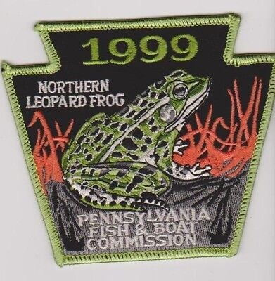 Pennsylvania Fish & Boat Commission 1999 Leopard Frog Game Warden Police Patch