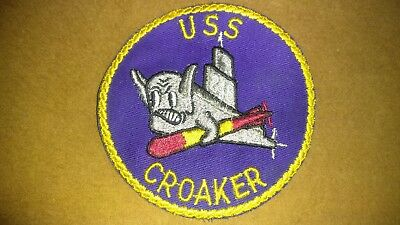 Ww2 Era Us Navy Uss Croaker 246 Submarine Embroidered Patch.
