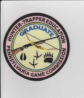 PA Game Commission Hunter Trapper Education Graduate Game Warden Police Patch