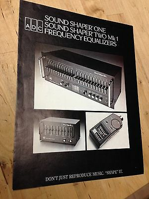 ADC Sound Shaper One Equalizer Brochure from the 1970's
