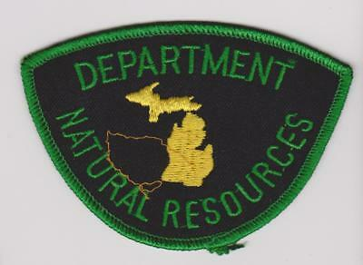 Michigan DNR Natural Resources Ranger Biologists Game Warden Police Patch