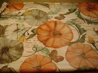 "Mainstays Fall Fabric Tablecloth...Pumpkins/Acorns...60"" x 84"""