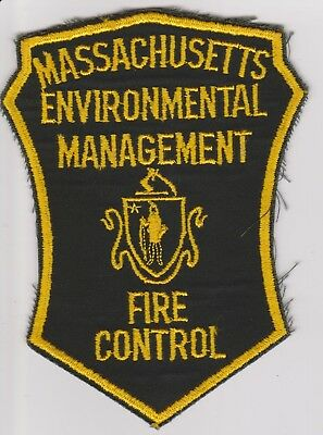 Old Massachusetts Environmental Mgt Fire Control Forest Ranger Police Patch