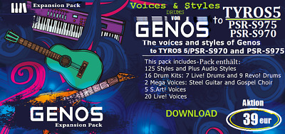 TYROS5 / PSR-S975/970 Expansion (Styles&Voices+Drum Kits from GENOS) (DOWNLOAD)