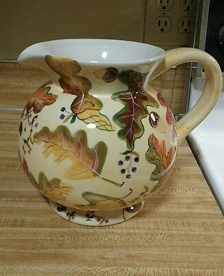 Zrike Harvest Fall Thanksgiving Leaves Pitcher, Beautiful!