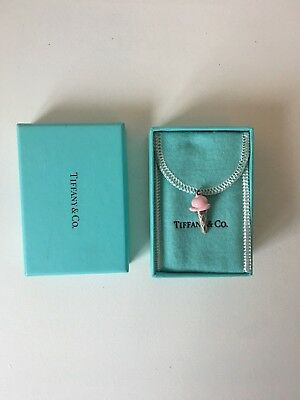 Tiffany & Co. RARE pink ice cream sterling silver charm