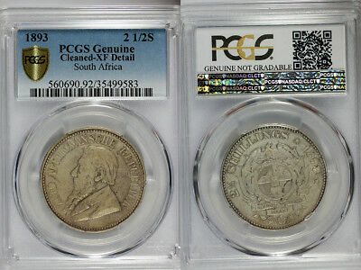 1893 South Africa 2.5 Shilling PCGS XF