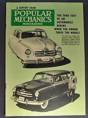 1951 Nash Rambler Road Test Catalog Sales Brochure Excellent Original 51