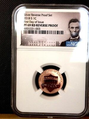 2018-S First Day Of Issue Lincoln Cent NGC PF 69 REVERSE PROOF * Gorgeous! *