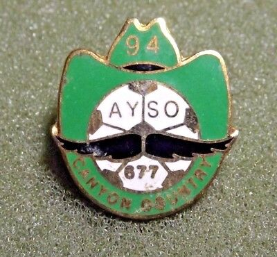 1994 AYSO 677 Canyon Country Lapel Pin American Youth Soccer Organization Calif.