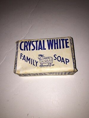 1 Giant Bar Vintage Crystal White Family Soap Colgate-Palmolive-Peet Co. unused