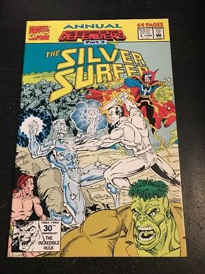 Silver Surfer Annual#5 Incredible Condition 9.4(1992) Defenders!!
