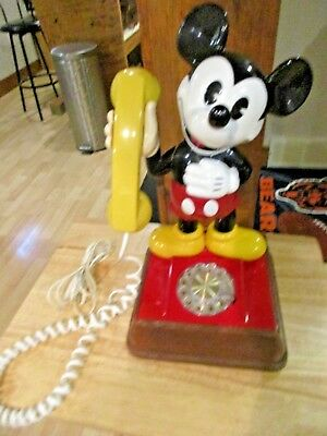 Vintage The Mickey Mouse Phone 1976 Rotary Phone