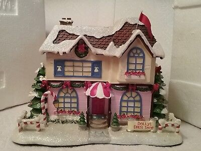 Hawthorne Village Rudolph's Christmas Town Collection Dolly's Dress Shop Coa