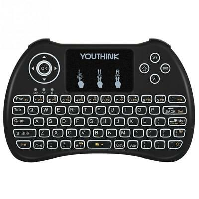 24G Wireless Hand Held Portable Gaming Qwerty Keyboard Control Smart Tv Pc Xbox