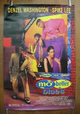 Mo' Better Blues (1990) Original D/S ROLLED One Sheet Movie Poster
