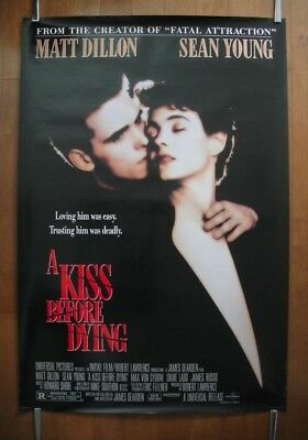 A Kiss Before Dying (1991) Original One Sheet D/S Movie Poster ROLLED