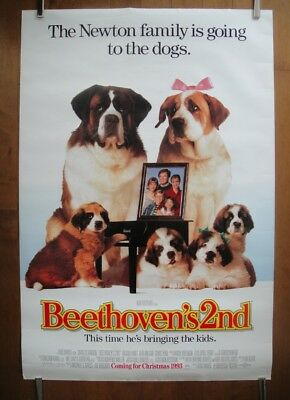 Beethoven's 2nd (1993) Original ADVANCED D/S Movie Poster ROLLED Near Mint