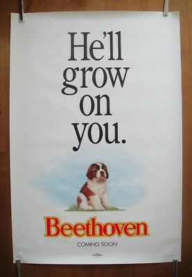Beethoven (1992) Original One Sheet ADVANCED Movie Poster ROLLED Near Mint