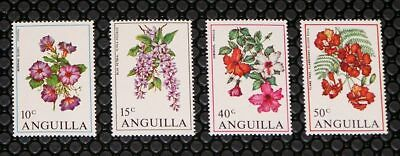 Anguilla 87-90 Flowers MNH