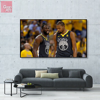 ae5c8cc18f4 Canvas print wall art photo big poster Draymond Green Kevin Durant nba  Warriors